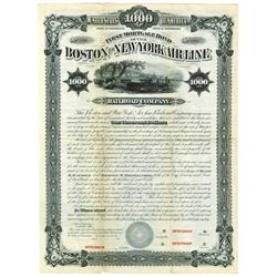 Boston and New York Air Line Railroad Co., 1880 Specimen Bond