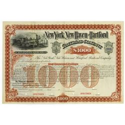 New York, New Haven and Hartford Railroad Co., 1880-90 Specimen Bond.