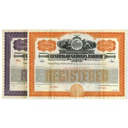 Central of Georgia Railway Co., 1919 Pair of Specimen Bonds