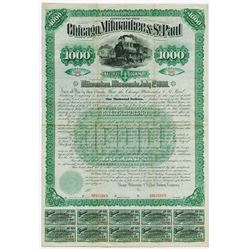 Chicago, Milwaukee & St. Paul Railway Co., 1886 Unique Specimen Bond in the ABN Archives.