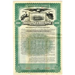 Indianapolis & Broad Ripple Rapid Transit Co., 1895 Specimen Bond