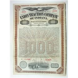 Union Traction Co. of Indiana, 1899 Specimen Bond
