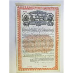 New Orleans Railways Co., 1902 Specimen Bond