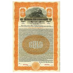 New Orleans, Texas & Mexico Railway Co., 1924 Specimen Bond