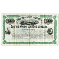 Troy & Boston Rail Road Co., 1874 Specimen Coupon Bond Rarity.
