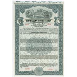 Kansas City Railways Co., 1915 Specimen Bond