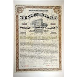 Missouri Pacific Railway Co., 1880 Specimen Bond.