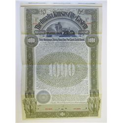 Omaha, Kansas City and Eastern Railroad Co., 1896 Specimen Bond