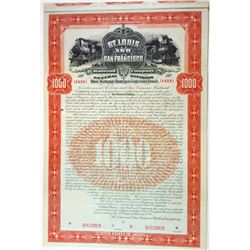 St. Louis and San Francisco Railroad Co. Central Division, 1899 Specimen Bond