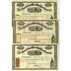Staten Island Horse Railroad Co., 1868 Issued Stock Certificate Trio.