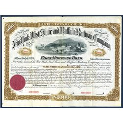 New York, West Shore and Buffalo Railway Co., 1881 Specimen Bond.