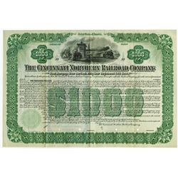 Cincinnati Northern Railroad Co., 1902 Specimen Bond.