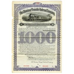 Cleveland Transfer Railroad Co., 1893 Specimen Bond