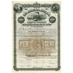 Marietta Mineral Railway Co., 1884 Specimen Bond.
