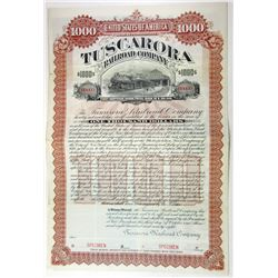 Tuscarora Railroad Co., 1898 Specimen Bond