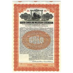 South Carolina Western Extension Railway 1913 Specimen Bond.