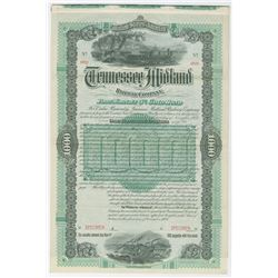 Tennessee Midland Railway Co., 1887 Specimen Bond.
