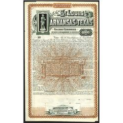 St. Louis Arkansas and Texas Railway Companies, 1887 Specimen Bond.