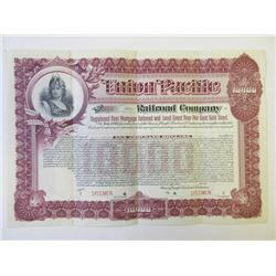 Union Pacific Railroad Co., 1897 Specimen Bond