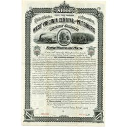 West Virginia Central and Pittsburg Railway Co., 1881 Specimen Bond