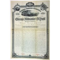 Chicago, Milwaukee and St. Paul Railway Co., 1888 Specimen Bond