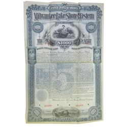 Milwaukee, Lake Shore and Western Railway Co., 1893 Specimen Bond