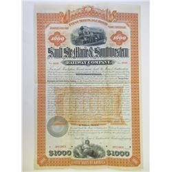 Sault Ste. Marie & Southwestern Railway Co., 1890 Specimen Bond
