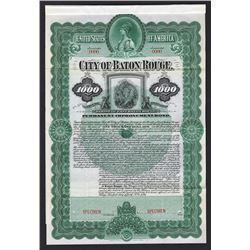 City of Baton Rouge. 1899. Specimen Bond.