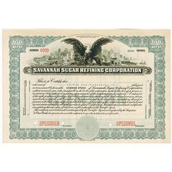 Savannah Sugar Refining Corp., ca.1920-1930 Specimen Stock Certificate