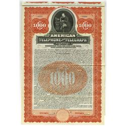 American Telephone and Telegraph Company, 1906 Specimen Bond Rarity.