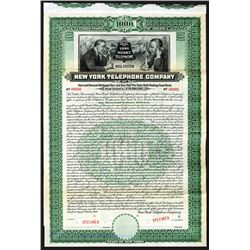 New York Telephone Co. 1909 Specimen Bond With popular Vignette.