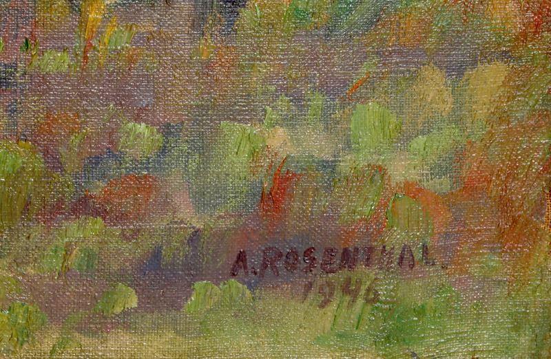 Abraham Rosenthal, Seaside, Oil Painting