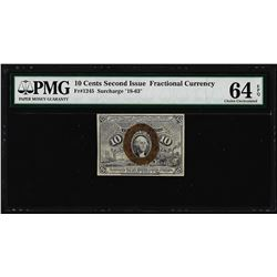 March 3, 1863 10 Cents Second Issue Fractional Currency Note PMG Choice Unc. 64E