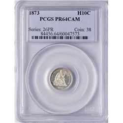 1873 Proof Seated Liberty Half Dime Coin PCGS PR64CAM