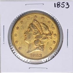 1853 $20 Liberty Head Double Eagle Gold Coin