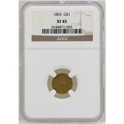 1855 $1 Indian Princess Head Gold Dollar Coin NGC XF45
