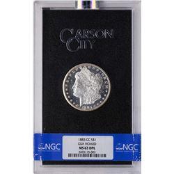 1883-CC $1 Morgan Silver Dollar Coin GSA Hoard NGC MS63DPL
