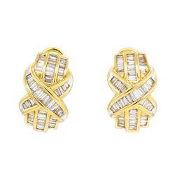 18KT Yellow Gold 2.00 ctw Diamond Earrings