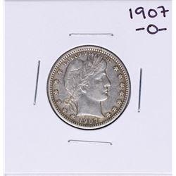 1907-O Barber Quarter Coin