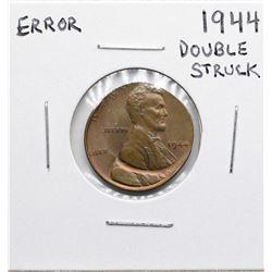 1944 Double Struck Lincoln Wheat Cent ERROR Coin
