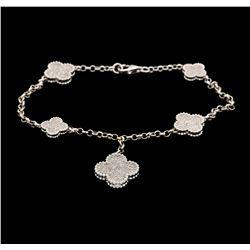 18KT White Gold 1.64 ctw Diamond Bracelet