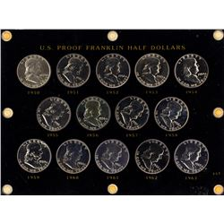 Lot of 1950-1963 Proof Franklin Half Dollar Coins