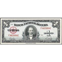 1949 Un Peso Banco Nacional De Cuba