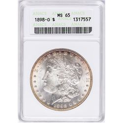 1898-O $1 Morgan Silver Dollar Coin ANACS MS65