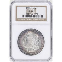 1889-S $1 Morgan Silver Dollar Coin NGC MS66