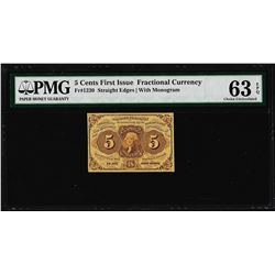 July 17, 1862 5 Cents First Issue Fractional Currency Note PMG Ch. Uncirculated