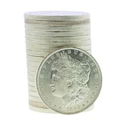 Roll of (20) Brilliant Uncirculated 1882-O $1 Morgan Silver Dollar Coins