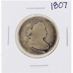 1807 Draped Bust Quarter Heraldic Eagle Coin