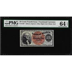 March 3, 1863 25 Cents 4th Issue Fractional Currency Note PMG Ch. Uncirculated 6