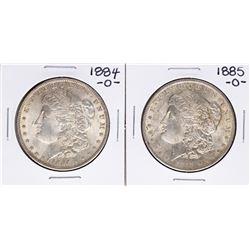 Lot of 1884-O & 1885-O $1 Morgan Silver Dollar Coins